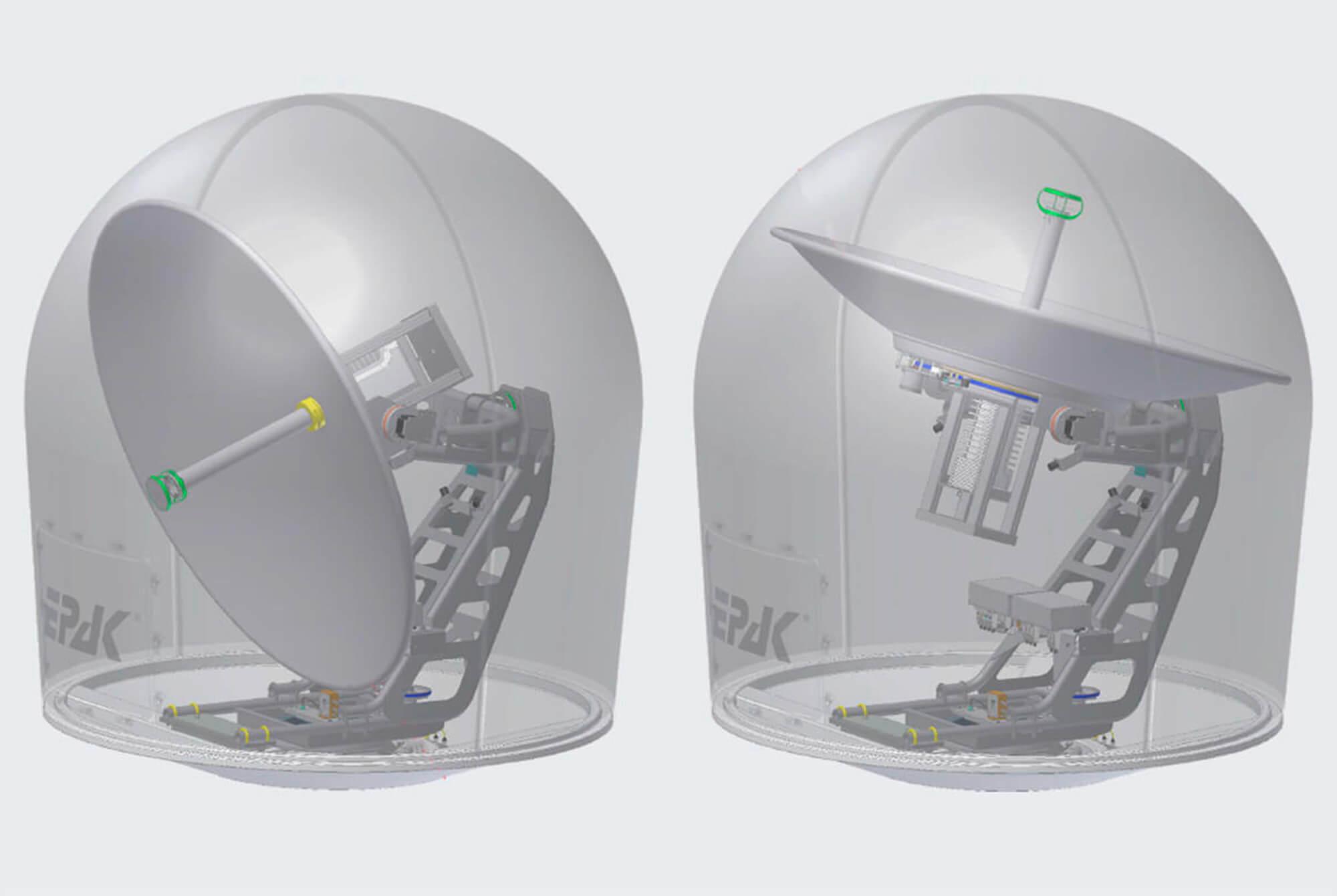Neue Generation automatisch nachführender Satellitenantennen