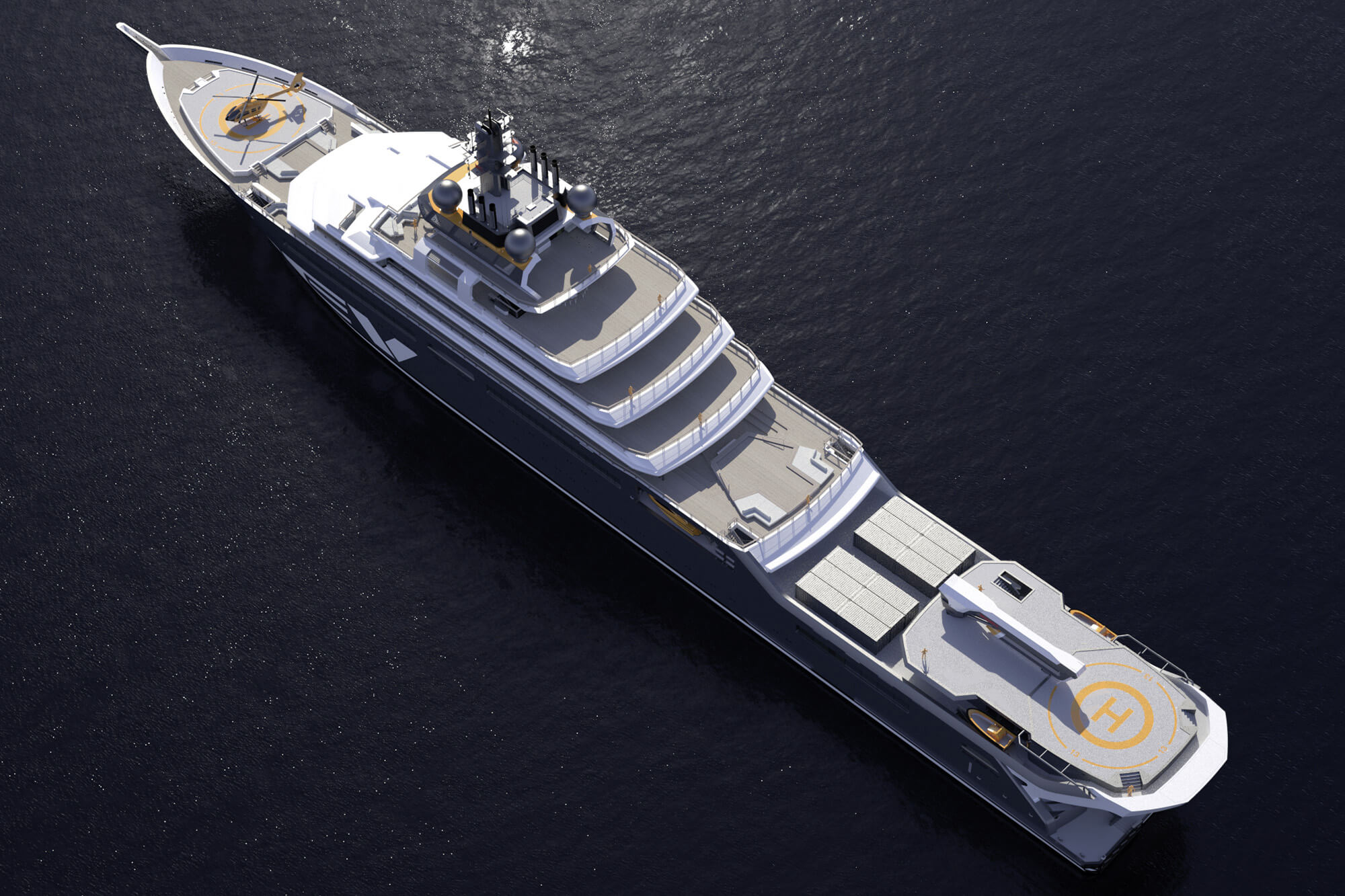Sustainability in yacht deck construction redefined – Wolz Nautic signs order for fitting out the 182 metre yacht REV