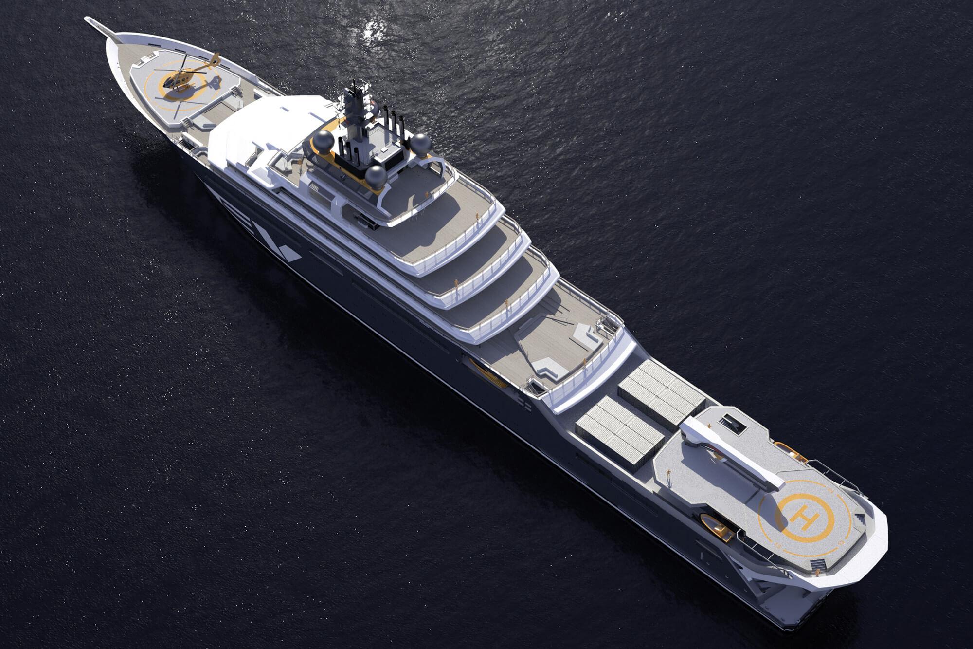 Nachhaltigkeit im Yachtdeckbau neu definiert – Wolz Nautic zeichnet Auftrag zur Ausstattung der 182 Meter Yacht REV